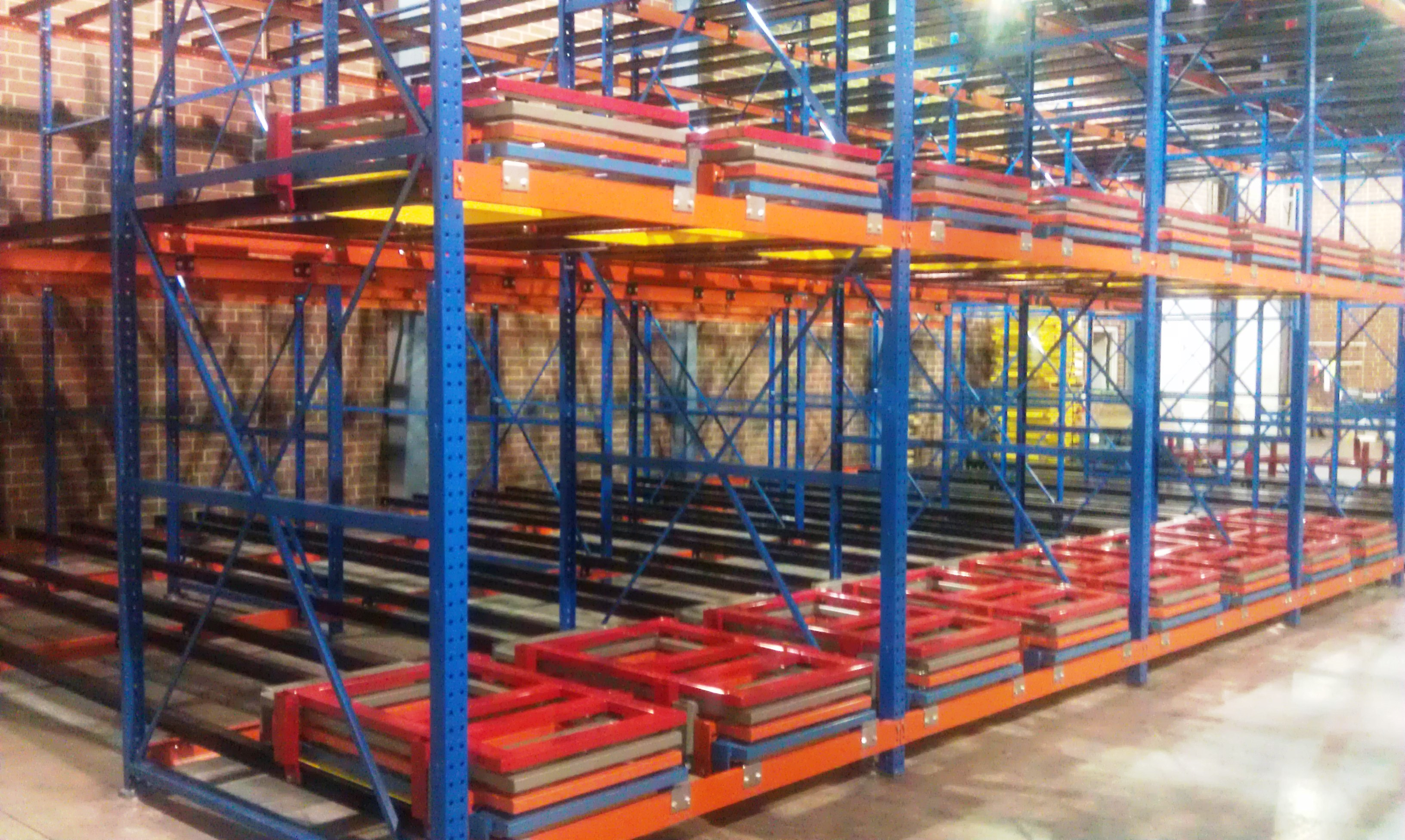 design safety rack back protection netting push warehouse