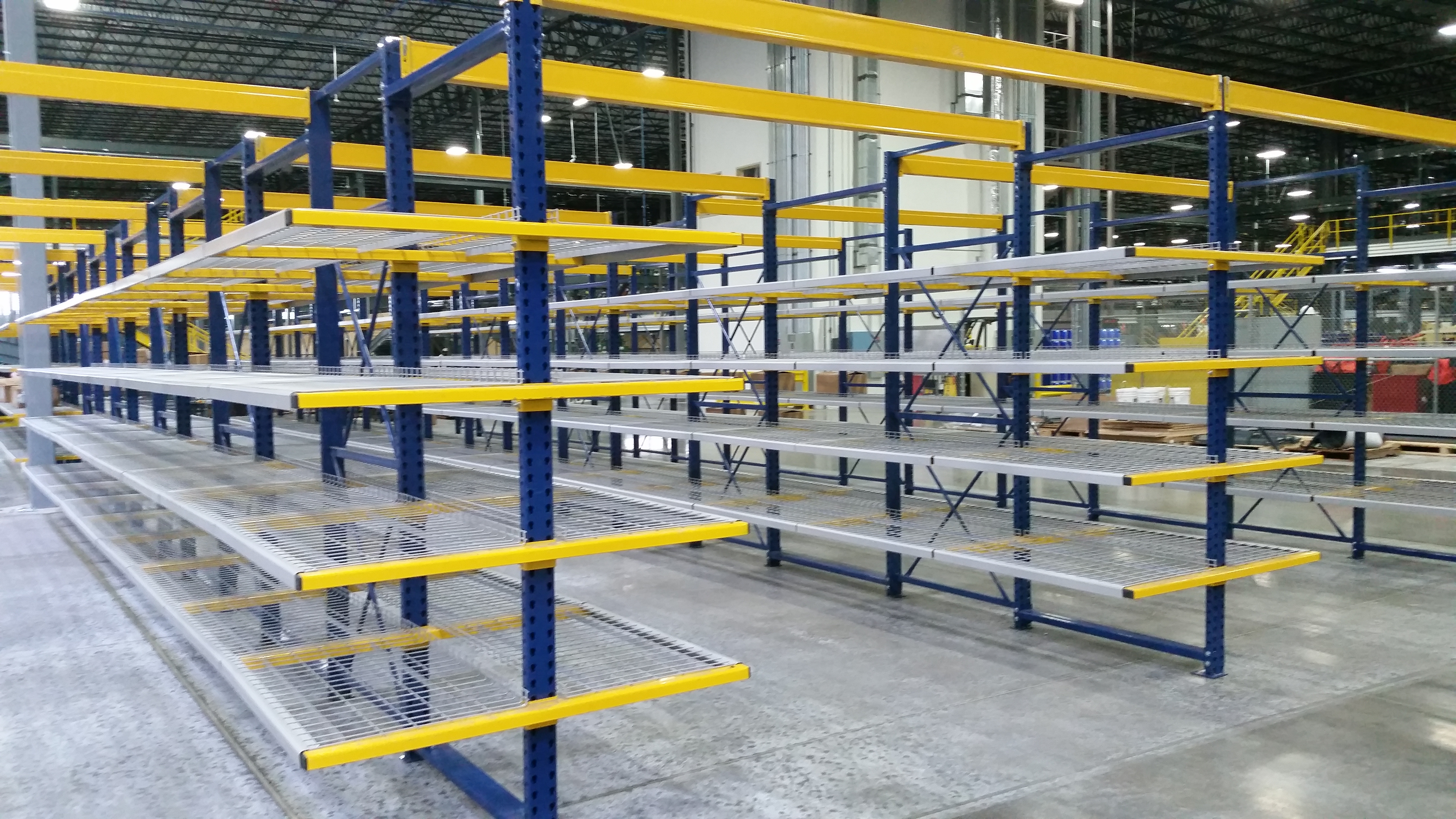 back ak push racks rack handling copy material racking cantilever pallet systems