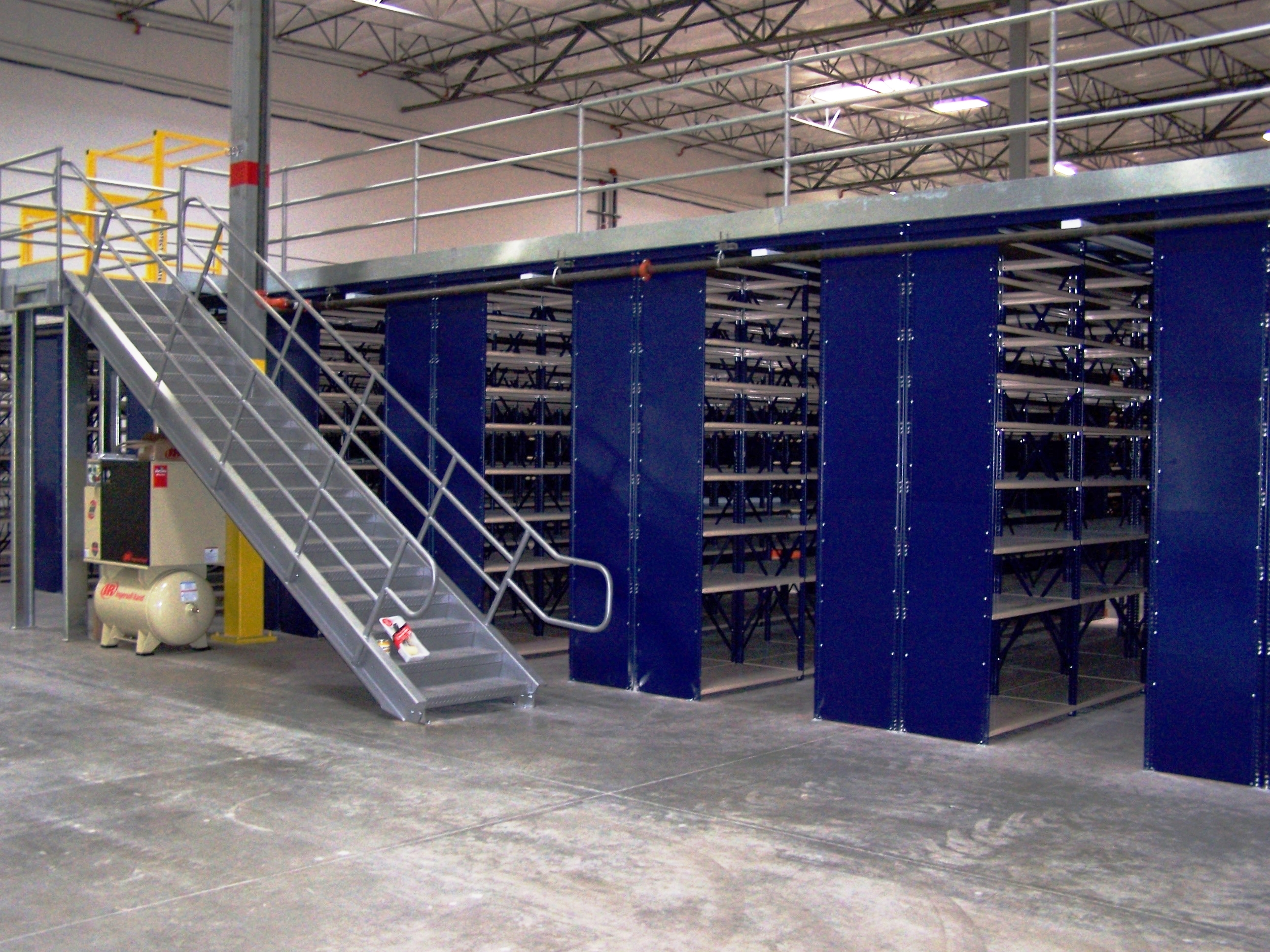 Mezzanine Storage Systems : Shelving warehouse design